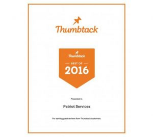 Thumbtack 2016 Best of Award