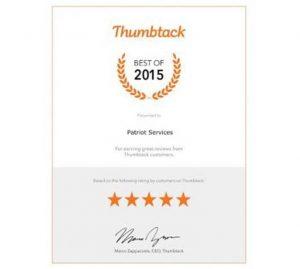 Thumbtack 2015 Best of Award